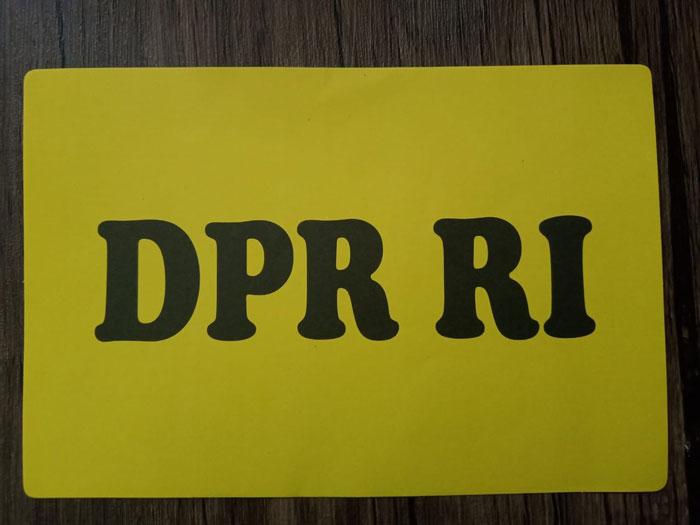 cetak stiker DPR RI