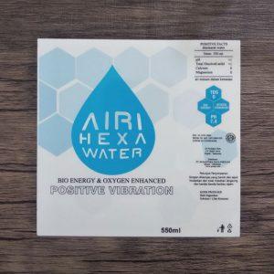 cetak stiker airi hexa water