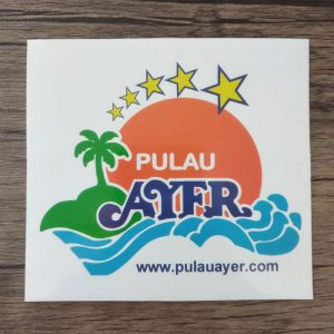 cetak stiker pulau ayer