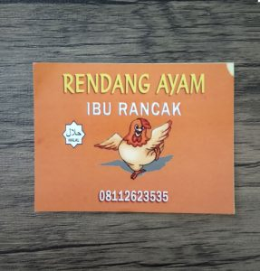 cetak stiker rendang ayam