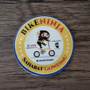 cetak stiker bike ninja kecil