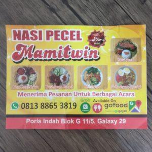 Cetak brosur Nasi Pecel