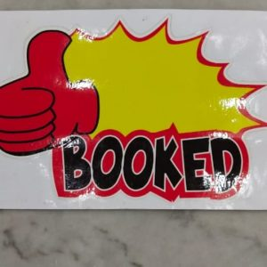 Cetak Stiker Booked