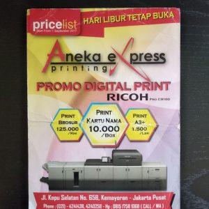 cetak brosur pricelist