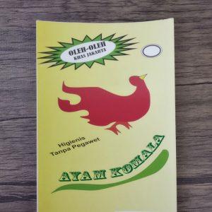 cetak stiker ayam komala