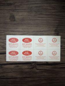 cetak stiker best laundry