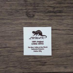 cetak stiker luwak coffee