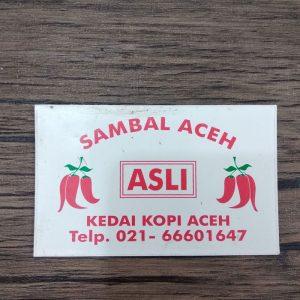cetak stiker sambal aceh